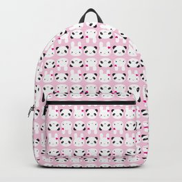 Super Cute Kawaii Bunny and Panda (Pink) Backpack