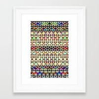 geo Framed Art Prints featuring GEO by Klara Acel