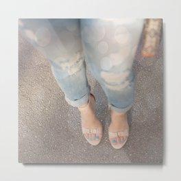 Nude Blue Metal Print