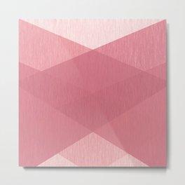 Geometric patchwork pink Metal Print