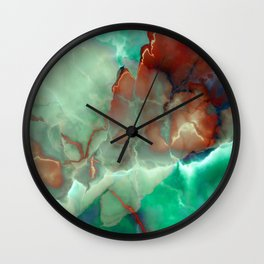 ONYX MARBLED TURQUOISE Wall Clock