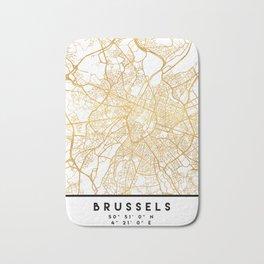 BRUSSELS BELGIUM CITY STREET MAP ART Bath Mat
