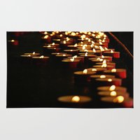 madonna Area & Throw Rugs featuring Candles for the Madonna by Art-Motiva