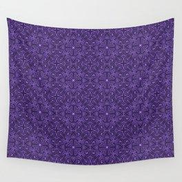 Purple Swirl pattern Wall Tapestry