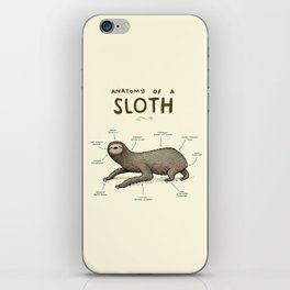 Anatomy of a Sloth iPhone Skin