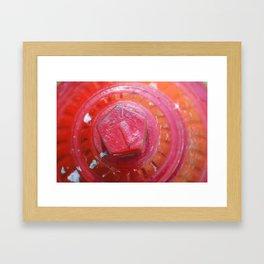 Red Fire Framed Art Print