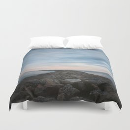 The Jetty at Sunset - Vertical Duvet Cover