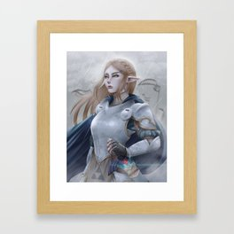Armored Zelda - Rain Framed Art Print