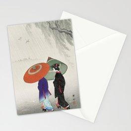 Rainy Day Geisha Stationery Cards