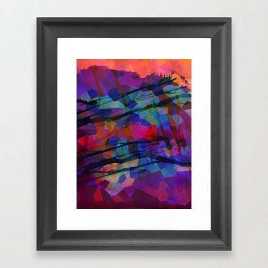 Pixel Splatter Framed Art Print