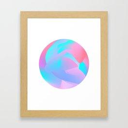 Candied Swirl Framed Art Print