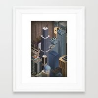 metropolis Framed Art Prints featuring Metropolis by Soak