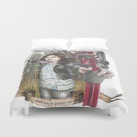 allison argent Duvet Covers featuring Allison Argent - We protect those who cannot protect themselves by MonsterFromTheLAke