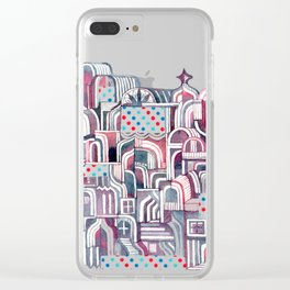 Maroon Castle Clear iPhone Case