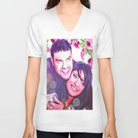 custom V-neck T-shirts featuring Custom commission by Raleenadrawings