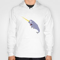narwhal Hoodies featuring Narwhal by anto harjo