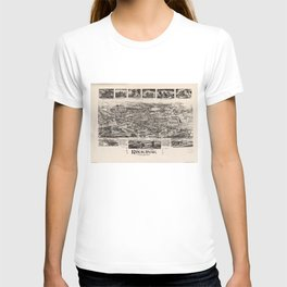 Vintage Pictorial Map of Rockaway NJ (1902) T-shirt
