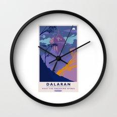 Dalaran Classic Rail Poster Wall Clock