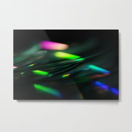 Stack of Compact Discs Abstract 9 Metal Print