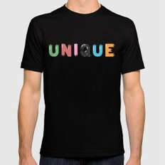 Unique Black Mens Fitted Tee SMALL