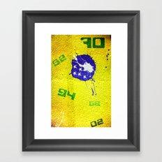 Brazil World Cup Framed Art Print