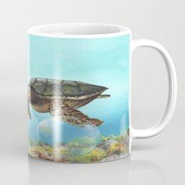 Green sea turtle swimming in ocean Coffee Mug