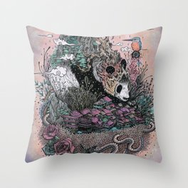 Land of the Sleeping Giant Throw Pillow