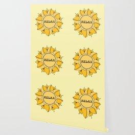 Relax Nouveau Golden Sun Mandala Wallpaper