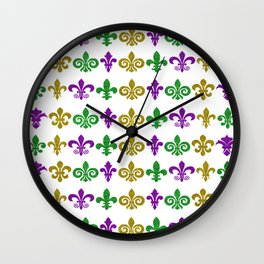Fleur de Lis Heaven Wall Clock
