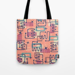 Mid Century Modern Abstract Pattern 951 Tote Bag