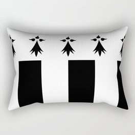 rennes city france country flag  Rectangular Pillow
