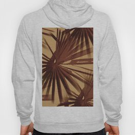 Burgundy and Coffee Tropical Beach Palm Vector Hoody