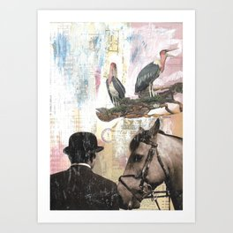 In Honor of the Horse- Mixed Media Art Print