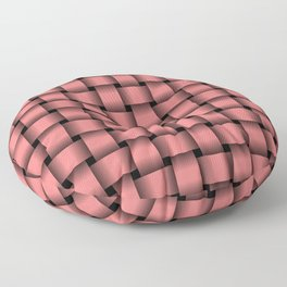 Light Coral Pink Weave Floor Pillow