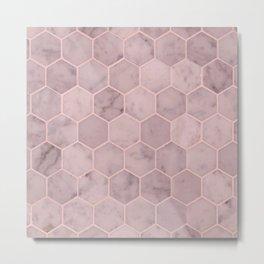 Pale Pink Tiles Metal Print