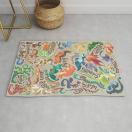 Mini Dragon Compendium Rug