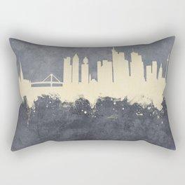 Frankfurt Germany Skyline Rectangular Pillow