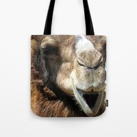 camel Tote Bags featuring camel by Laura Grove