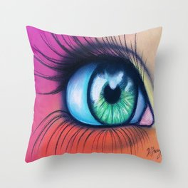 Kaleidoscopic Vision Throw Pillow