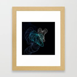 Gray, blue and white / digital drawing Framed Art Print