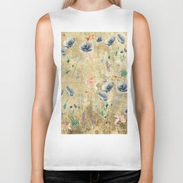 Fishes & Garden #Gold-plated Biker Tank