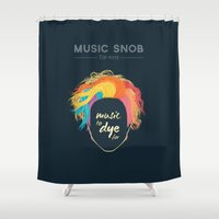 paramore Shower Curtains featuring Music to DYE for — Music Snob Tip #075 by Elizabeth Owens