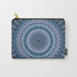 Grey and blue mandala Carry-All Pouch