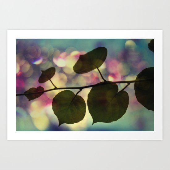 Kiwi leaves Art Print