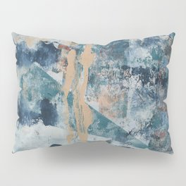 Empire: A Vibrant Abstract Design in Blue and Various Colors by Alyssa Hamilton Art Pillow Sham
