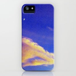 Moon and light iPhone Case