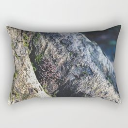 Tree Trunk Mushrooms - Nature Photography Rectangular Pillow