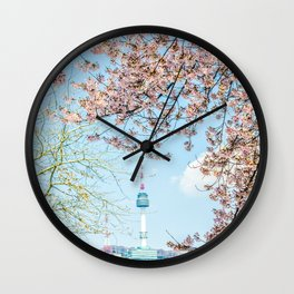 Seoul Tower - Spring Wall Clock