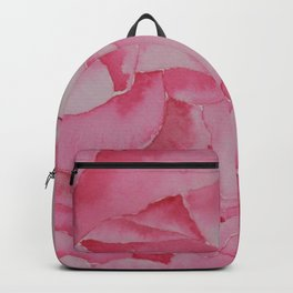 Peony after the rain. Backpack