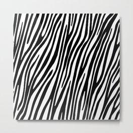 Animal print zebra Metal Print